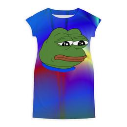 "Платье летнее ""Pepe Frog"" - мем, грустная лягушка, sad frog, pepe frog, pepe the frog"