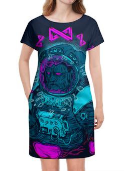 """Платье летнее """"Космонавт"""" - арт, иллюстрация, авторский, космос, космонавт"""