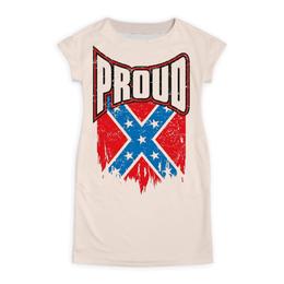 "Платье летнее ""Флаг Конфедерации США"" - америка, флаг, сша, флаг конфедерации, proud"