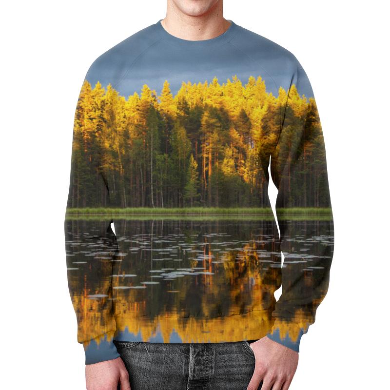 Свитшот мужской с полной запечаткой Printio Осенний пейзаж чехол для iphone 5 глянцевый с полной запечаткой printio осенний день сокольники левитан
