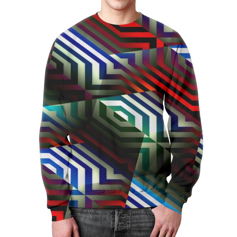 Свитшот мужской с полной запечаткой Printio Цветной орнамент свитшот унисекс с полной запечаткой printio свитшот с цветной картой мира