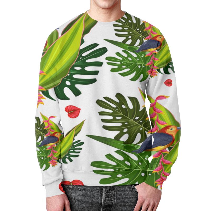 Свитшот унисекс с полной запечаткой Printio Тропические цветы