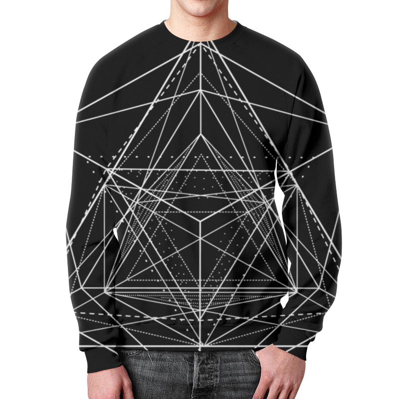 Свитшот мужской с полной запечаткой Printio Свитшот унисекс с геометрической фигурой (1) свитшот унисекс с полной запечаткой printio weave