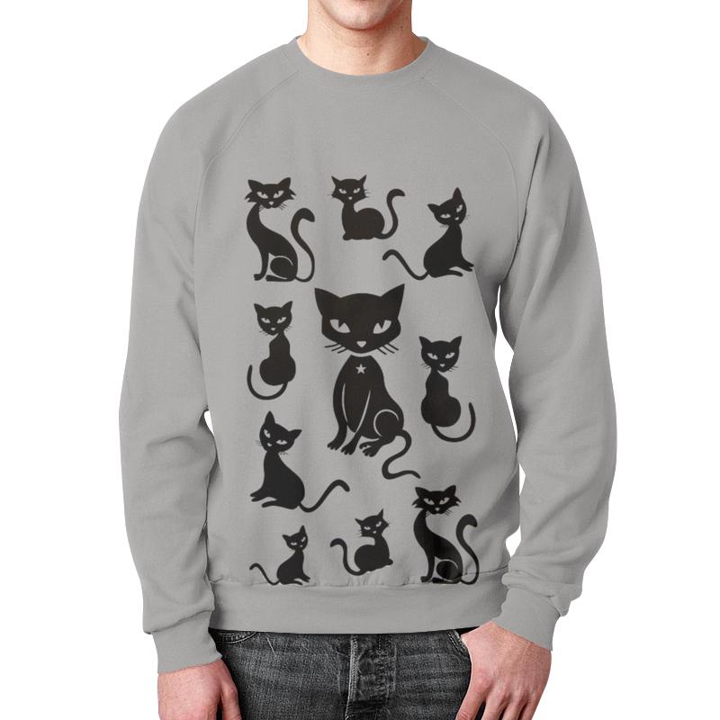 Свитшот мужской с полной запечаткой Printio Кошки свитшот print bar взгляд кошки