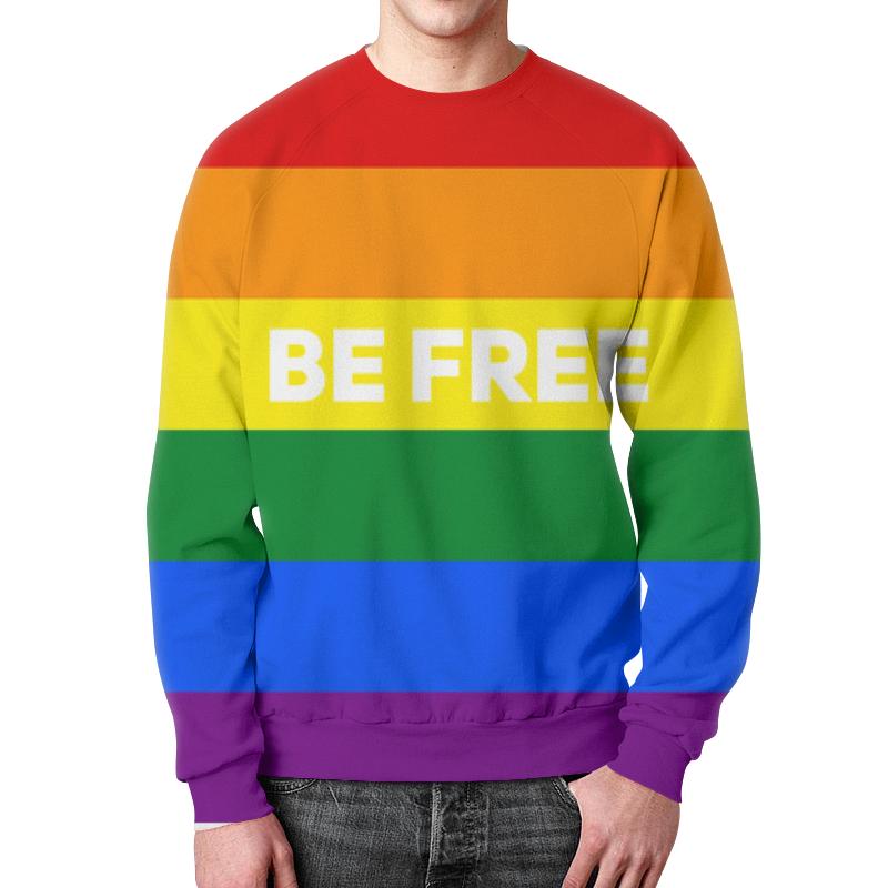 Printio Be free свитшот мужской с полной запечаткой printio be free