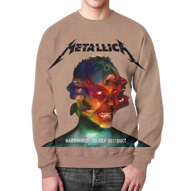 Свитшот мужской с полной запечаткой Printio Metallica band футболка с полной запечаткой женская printio metallica band