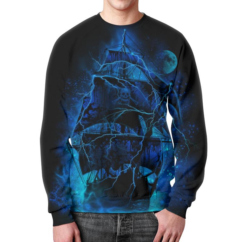 Свитшот мужской с полной запечаткой Printio Корабль призрак цена