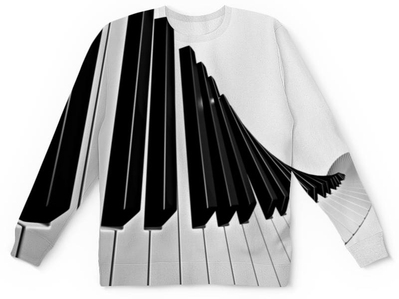 Свитшот унисекс с полной запечаткой Printio Музыка свитшот унисекс с полной запечаткой printio музыка гитара музыкант