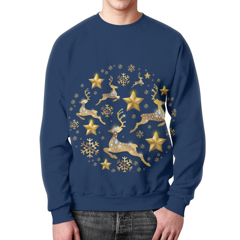 Свитшот мужской с полной запечаткой Printio Олени свитшот унисекс с полной запечаткой printio свитер с оленями 1