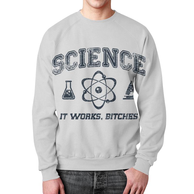 Свитшот мужской с полной запечаткой Printio Наука цены онлайн