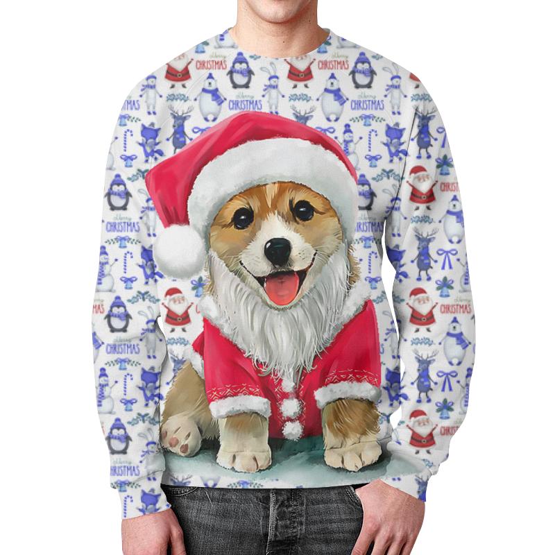 Свитшот унисекс с полной запечаткой Printio Merry christmas dog