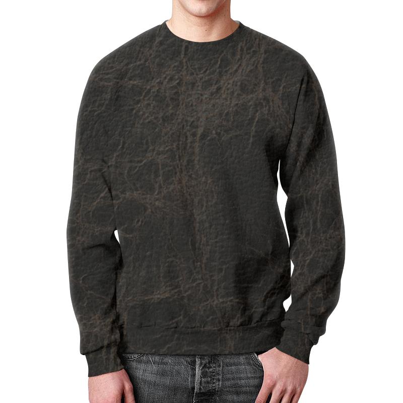 Свитшот мужской с полной запечаткой Printio Кожаная текстура цена