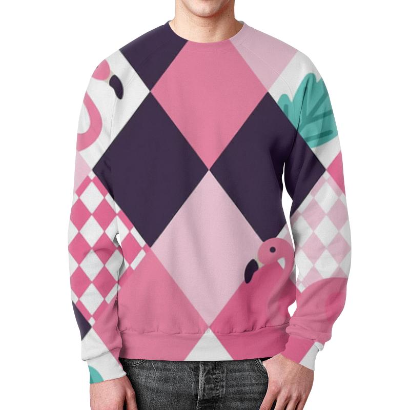 Фото - Свитшот мужской с полной запечаткой Printio Фламинго свитшот унисекс с полной запечаткой printio алфавит