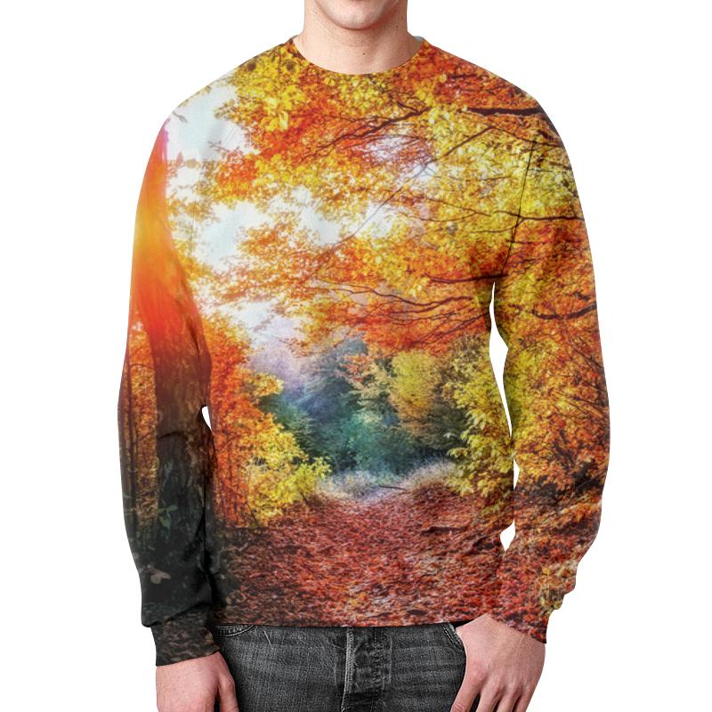 Свитшот мужской с полной запечаткой Printio Осенний пейзаж чехол для iphone 4 глянцевый с полной запечаткой printio осенний день сокольники левитан