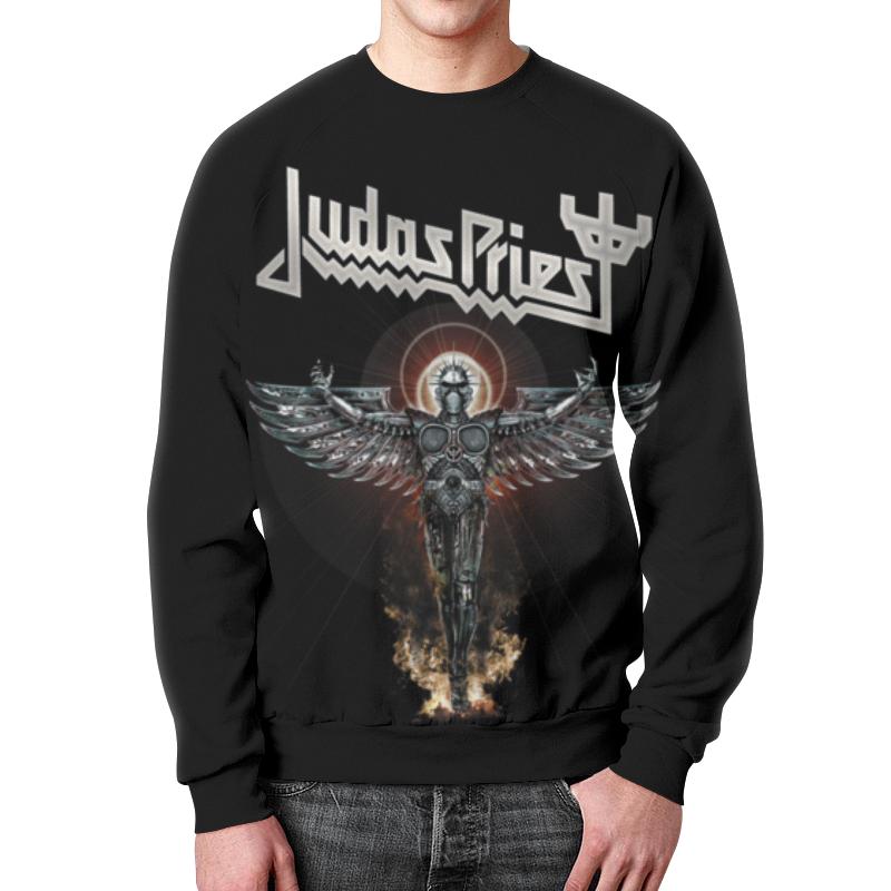Свитшот мужской с полной запечаткой Printio Judas priest цена