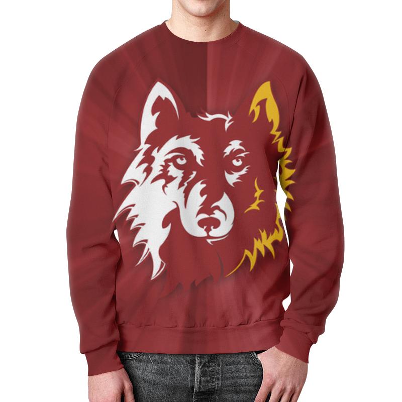 Printio Волк арт свитшот унисекс с полной запечаткой printio волк воет на луну