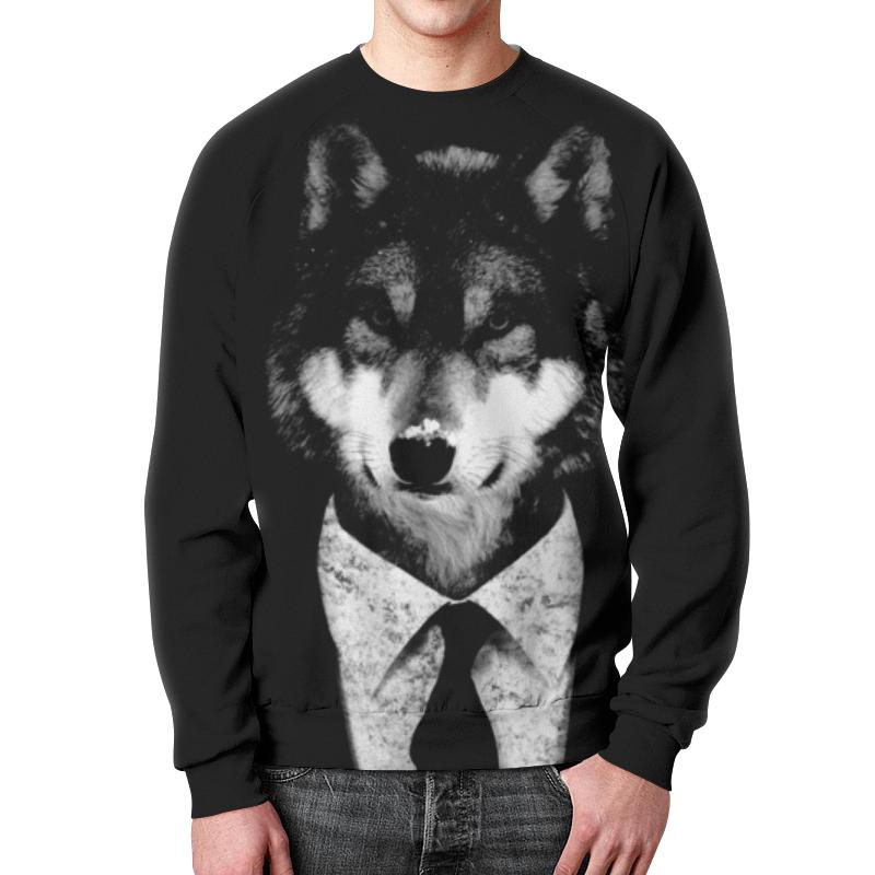 Printio Мистер волк свитшот унисекс с полной запечаткой printio волк воет на луну