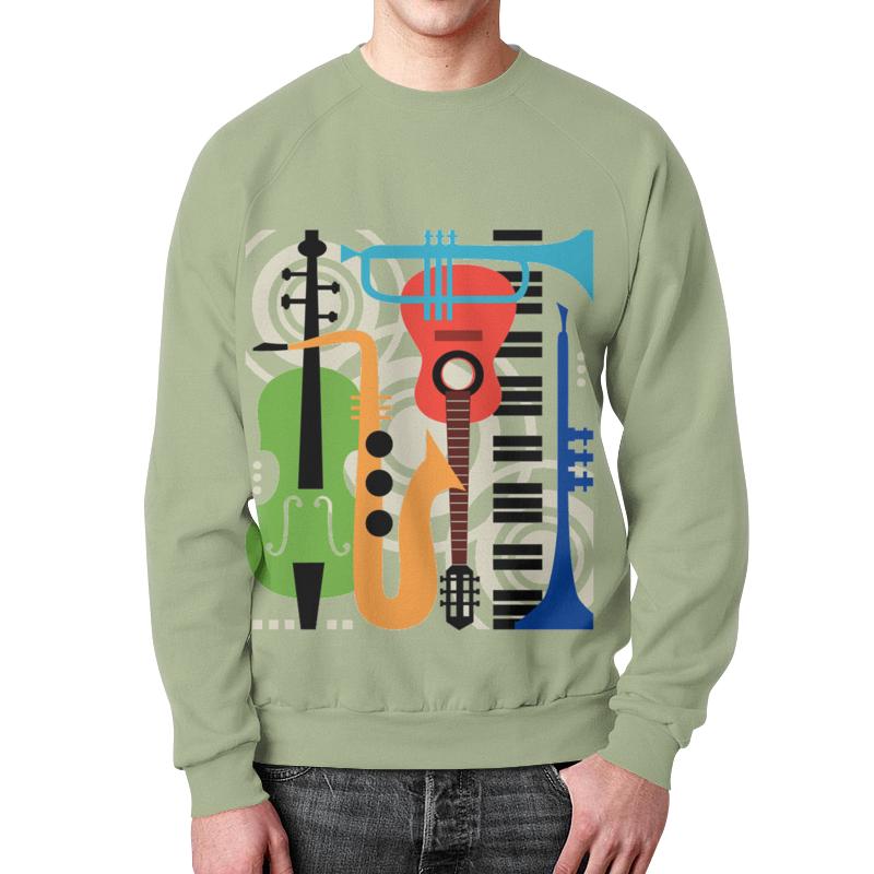 Свитшот унисекс с полной запечаткой Printio Музыкальные инструменты музыкальные инструменты