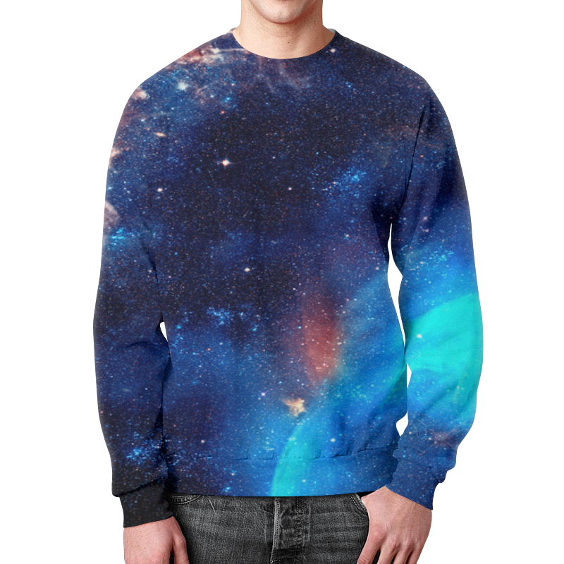 Свитшот мужской с полной запечаткой Printio Космос свитшот унисекс с полной запечаткой printio космос space
