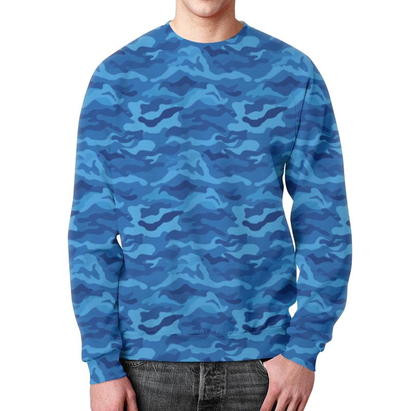 Свитшот мужской с полной запечаткой Printio Камуфляж синий свитшот мужской с полной запечаткой printio камуфляж