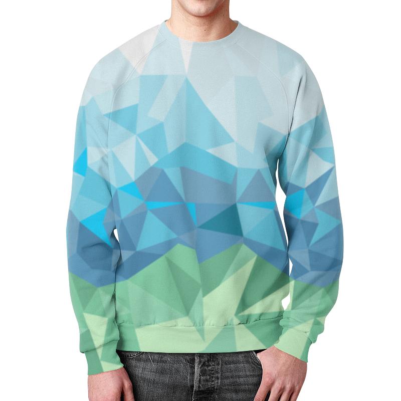 Свитшот мужской с полной запечаткой Printio Полигоны свитшот print bar gray polygon