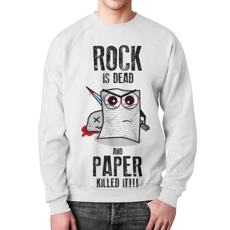Свитшот мужской с полной запечаткой Printio Rock is dead футболка wearcraft premium printio rock is dead