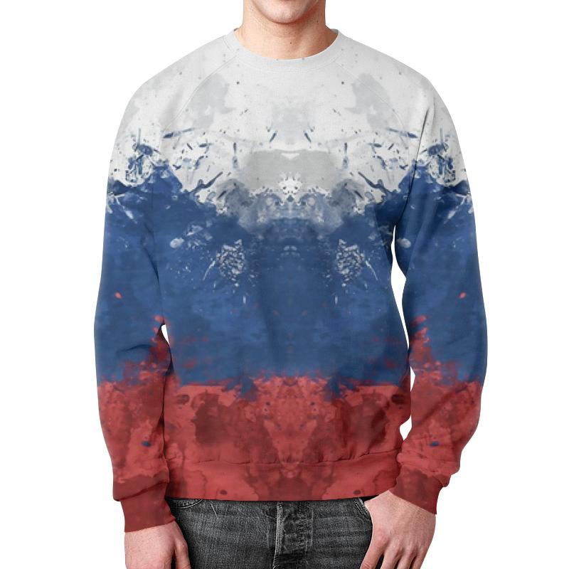 Свитшот мужской с полной запечаткой Printio Россия цены онлайн
