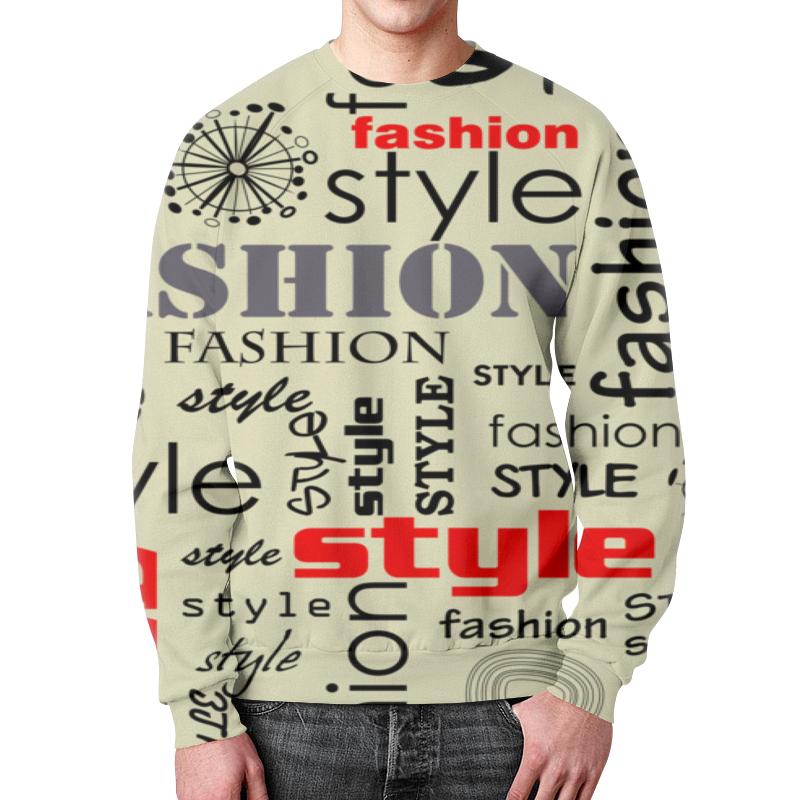 Свитшот мужской с полной запечаткой Printio Fashion style бомбер printio fashion style