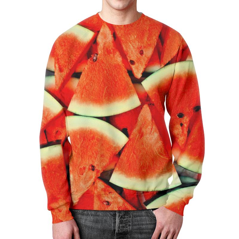 Свитшот унисекс с полной запечаткой Printio Сочный арбуз рубашка поло с полной запечаткой printio сочный арбуз
