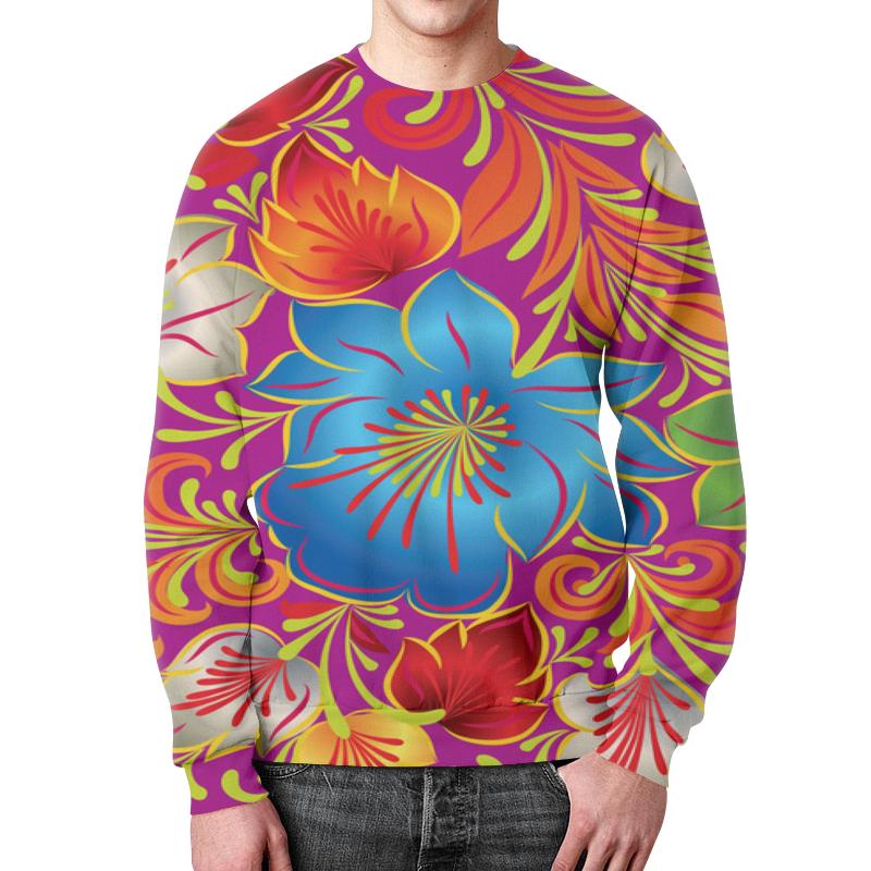 Свитшот мужской с полной запечаткой Printio Узор цветов свитшот мужской с полной запечаткой printio весенний вальс цветов