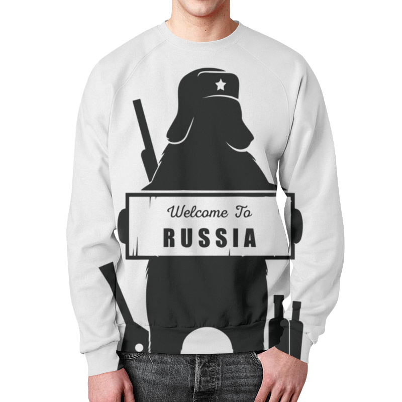 Свитшот унисекс с полной запечаткой Printio Welcome to russia_svtsht rm100sz 6s module special sales welcome to order