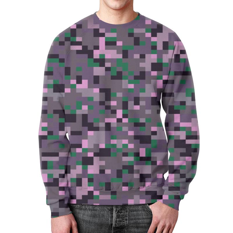 Свитшот мужской с полной запечаткой Printio Камуфляжная текстура цена