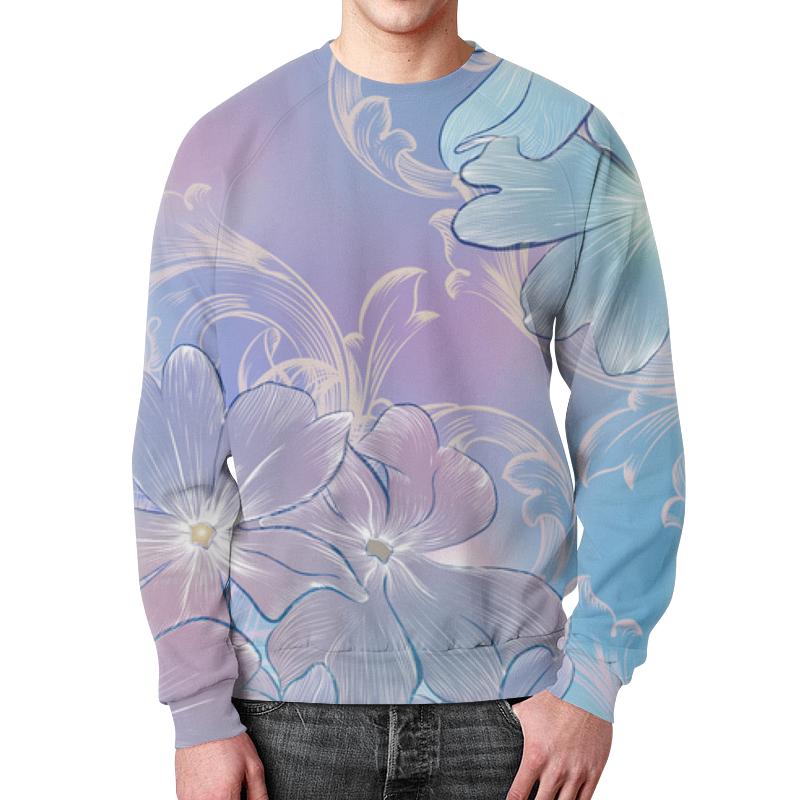 Свитшот мужской с полной запечаткой Printio Нежные цветы блокнот кофемана нежные цветы