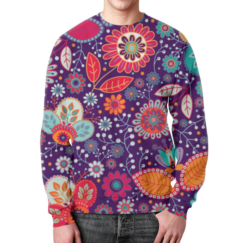 Свитшот мужской с полной запечаткой Printio Цветочная поляна борцовка с полной запечаткой printio цветочная поляна