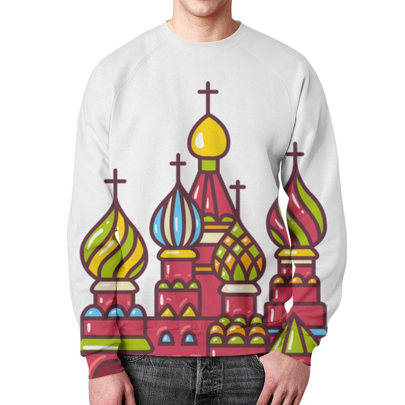 Свитшот мужской с полной запечаткой Printio Москва спортивные товары москва