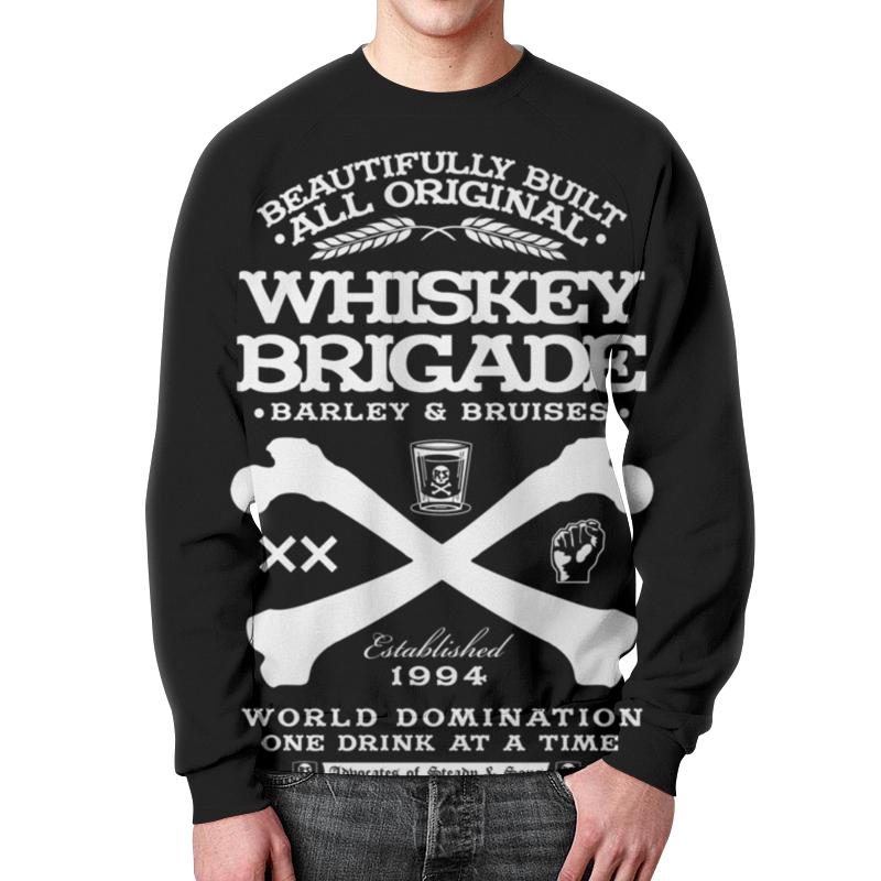 Свитшот унисекс с полной запечаткой Printio Whiskey brigade leaving whiskey bend