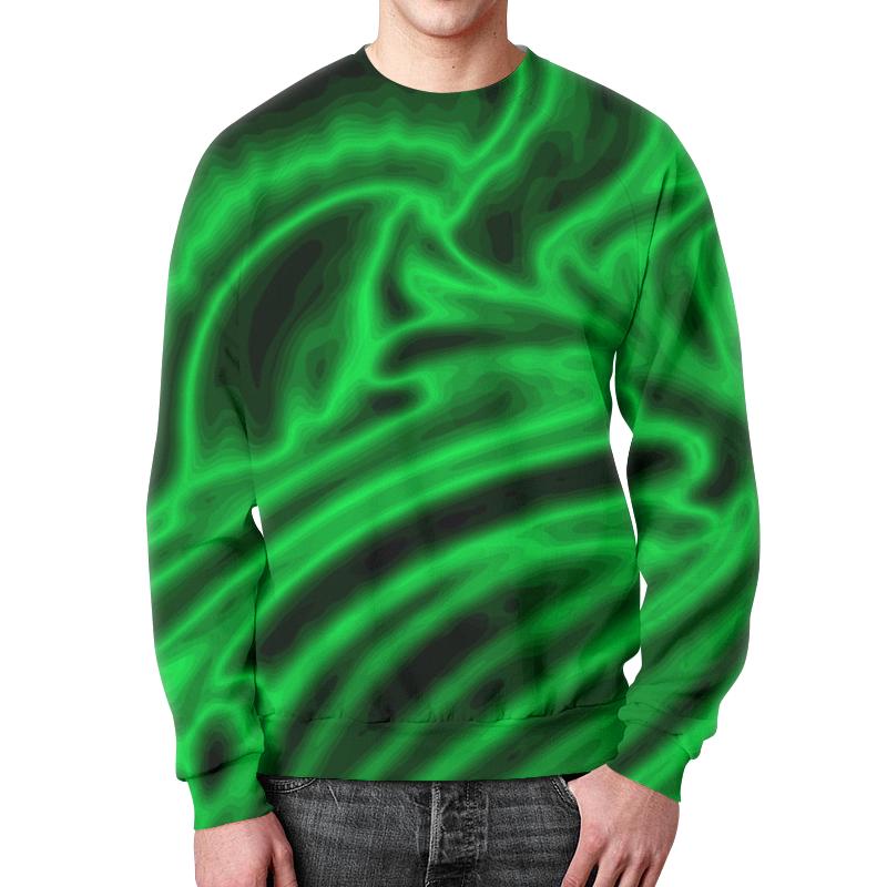 Свитшот мужской с полной запечаткой Printio Яркий зеленый цена 2017