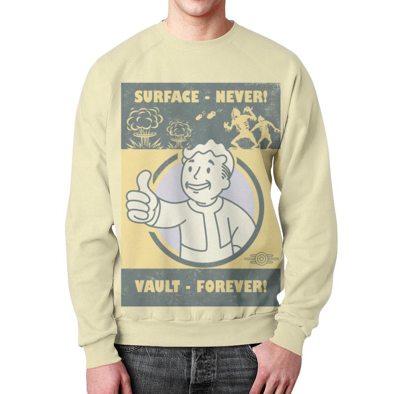Свитшот мужской с полной запечаткой Printio Fallout. vault - forever! свитшот print bar dimebag forever