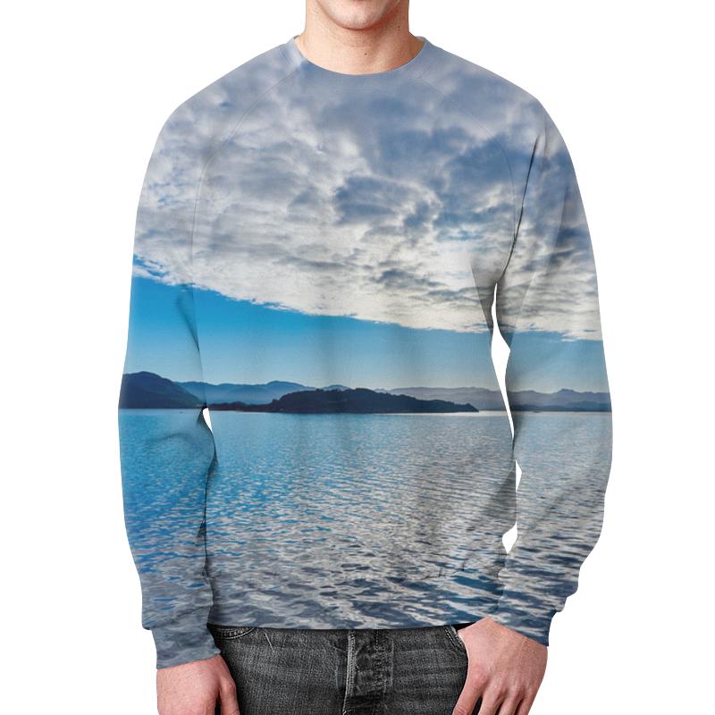 футболка с полной запечаткой для мальчиков printio остров в море Свитшот мужской с полной запечаткой Printio Остров в море