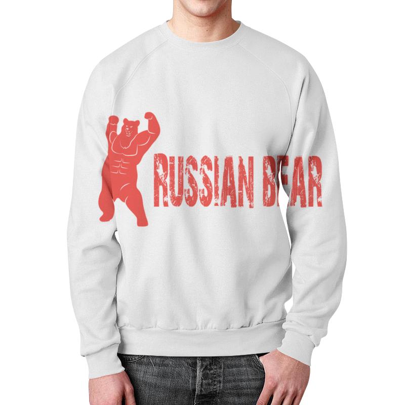 Свитшот унисекс с полной запечаткой Printio Russian bear свитшоты happy bear свитшот