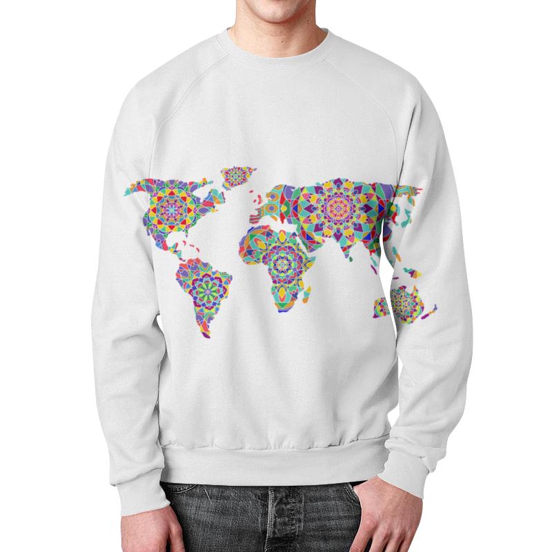 Printio Свитшот с цветной картой мира свитшот мужской с полной запечаткой printio яркая мозаика