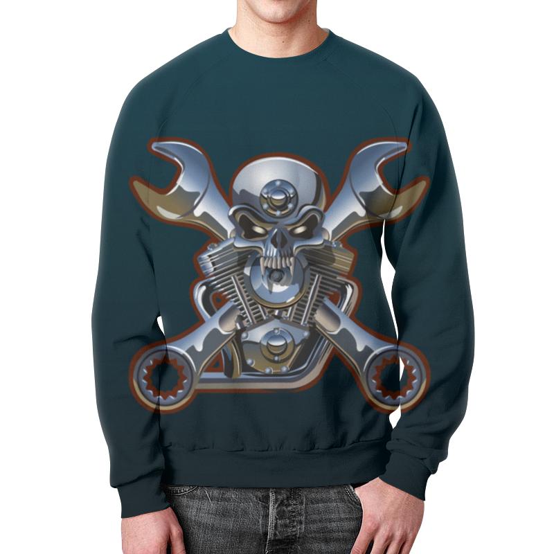 Свитшот мужской с полной запечаткой Printio Metal skull свитшот унисекс с полной запечаткой printio evil skull