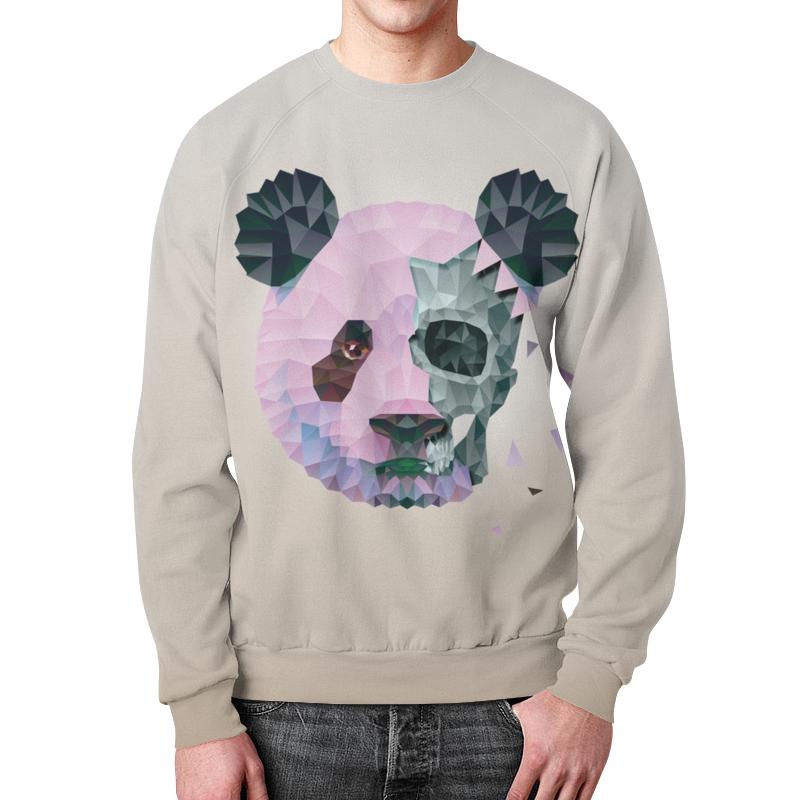 Свитшот мужской с полной запечаткой Printio Polygonal panda metal crossbar polygonal mirrored sunglasses