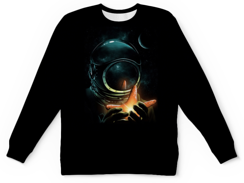 Свитшот унисекс с полной запечаткой Printio Outer space свитшот print bar nebula space