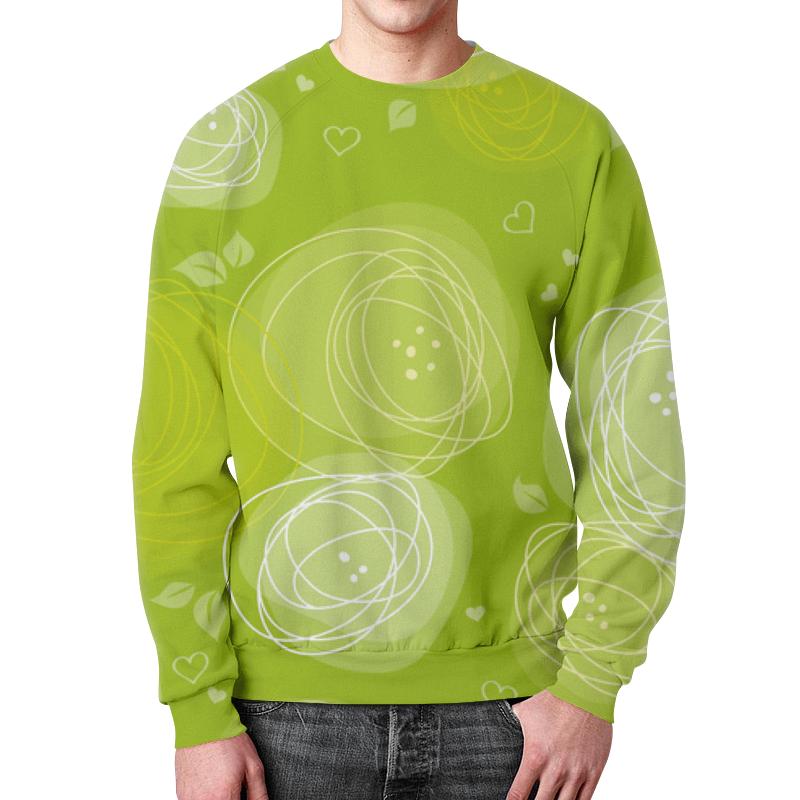 Printio Летняя абстракция свитшот мужской с полной запечаткой printio летняя трава