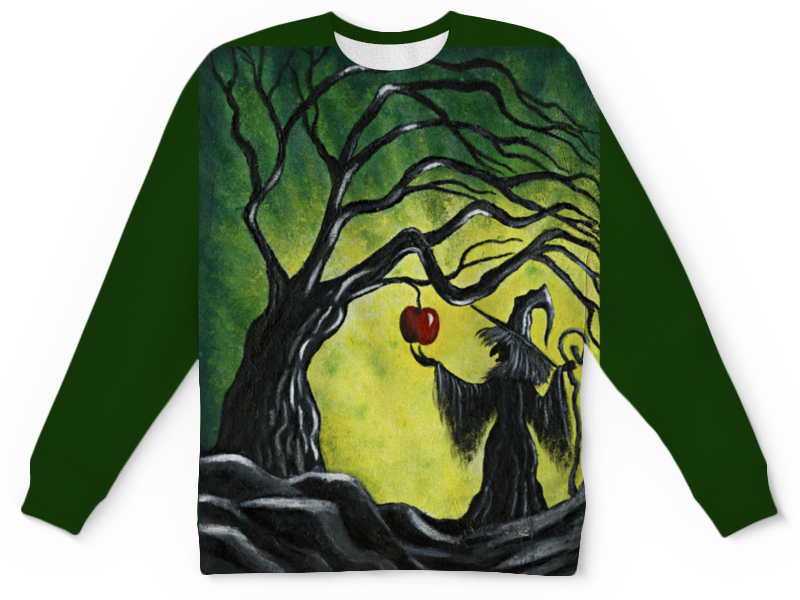 Свитшот унисекс с полной запечаткой Printio Заколдованное яблоко футболка с полной запечаткой для девочек printio заколдованное яблоко