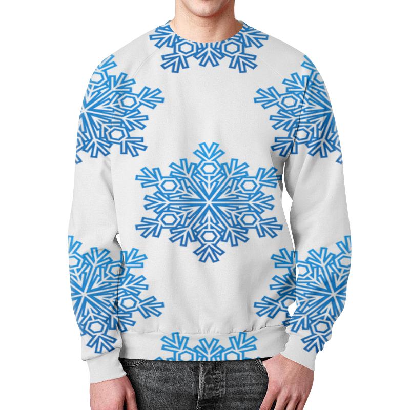 Свитшот унисекс с полной запечаткой Printio Голубые снежинки свитшот унисекс с полной запечаткой printio голубые пиксели