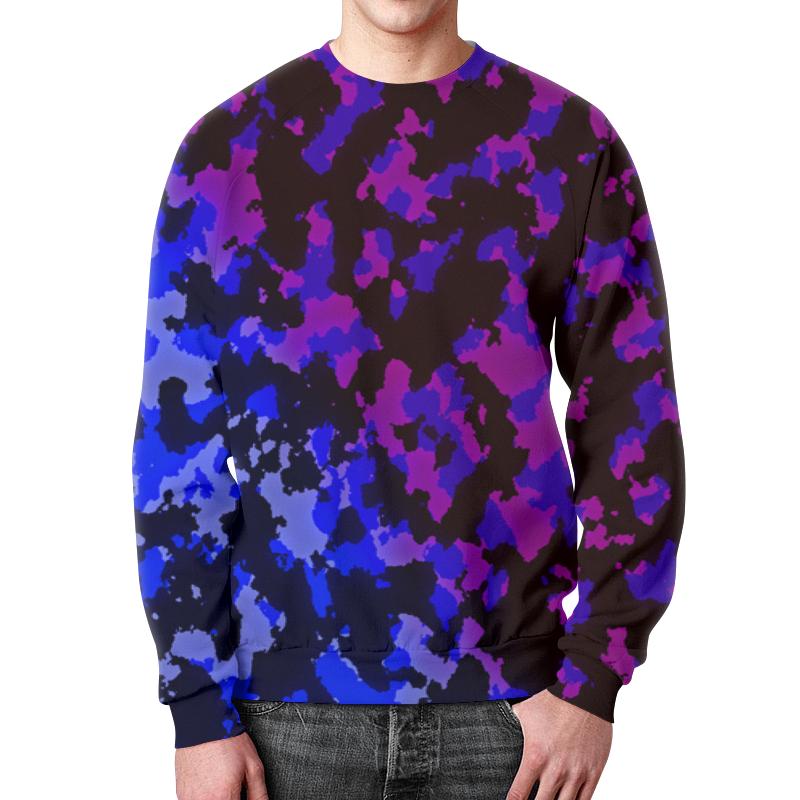 Свитшот мужской с полной запечаткой Printio Цветной камуфляж свитшот унисекс с полной запечаткой printio свитшот с цветной картой мира