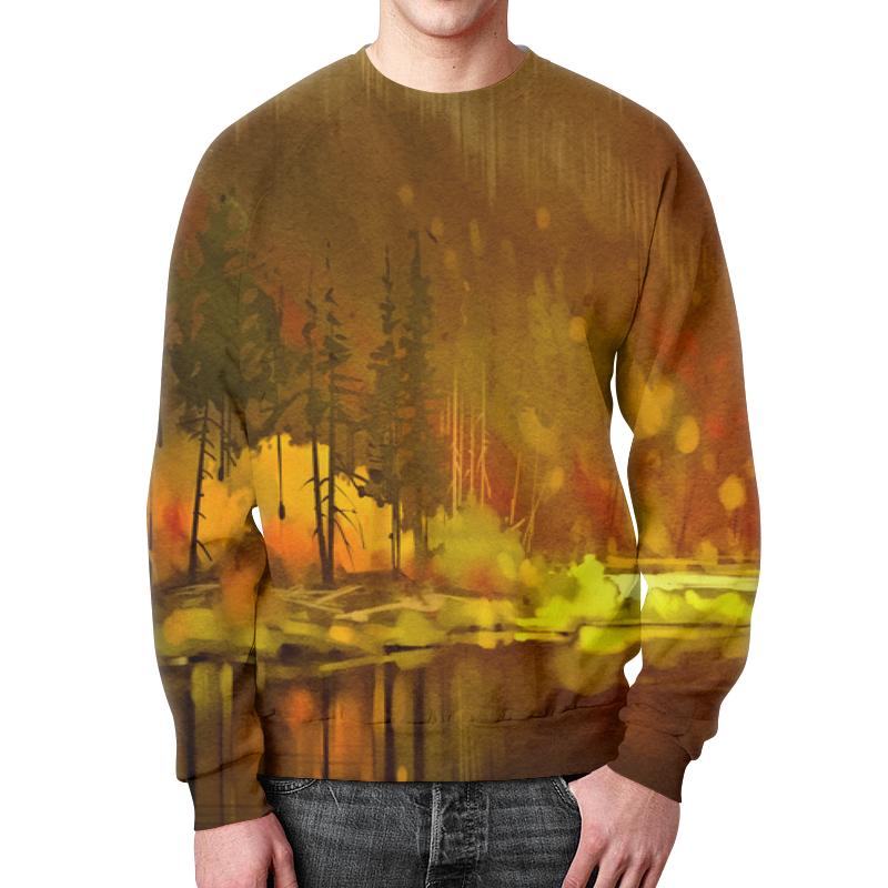 Свитшот унисекс с полной запечаткой Printio Осенний лес свитшот унисекс с полной запечаткой printio тёмный лес