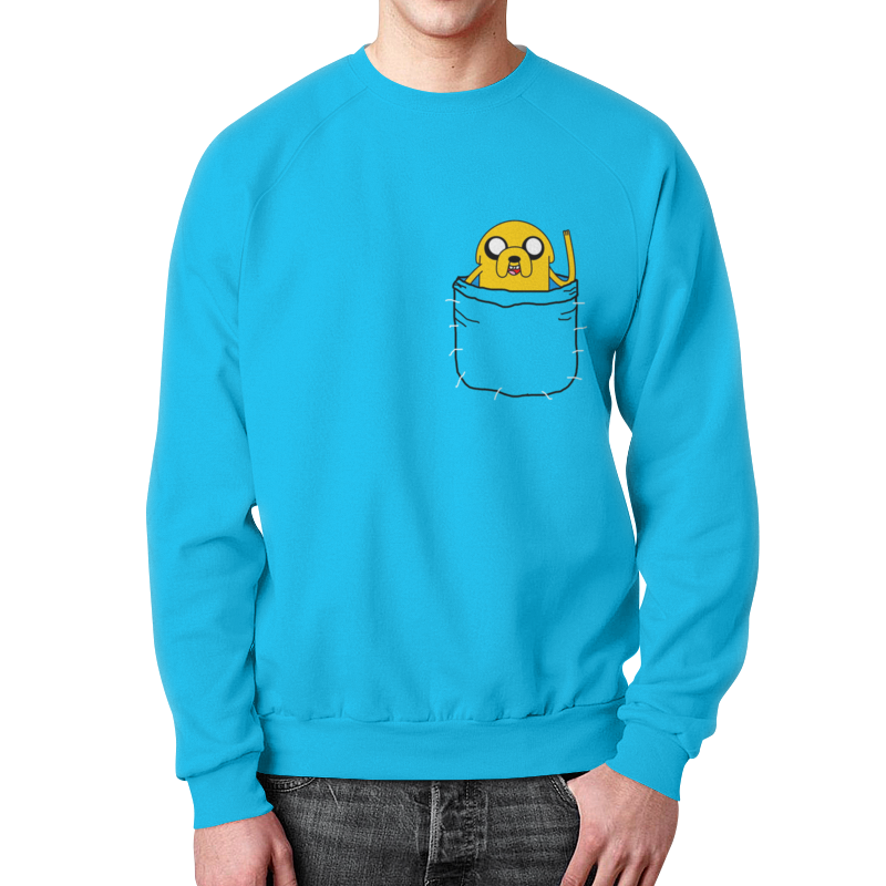 Свитшот унисекс  полной запечаткой Printio Adventure time